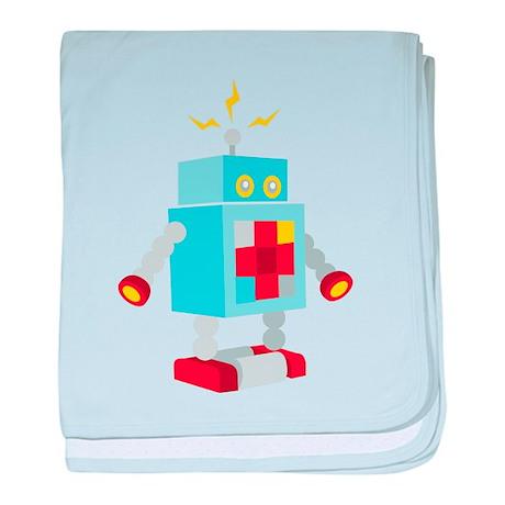 Robot Power baby blanket