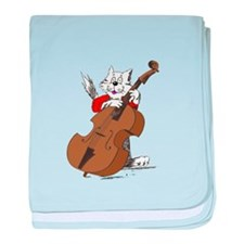 String Bass Cat III baby blanket