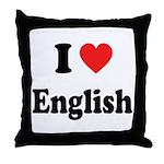 I Heart English: Throw Pillow