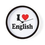 I Heart English: Wall Clock