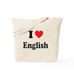 I Heart English: Tote Bag