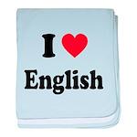 I Heart English: baby blanket