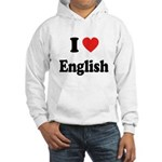 I Heart English: Hooded Sweatshirt