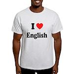 I Heart English: Light T-Shirt