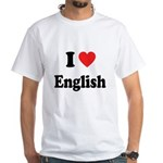 I Heart English: White T-Shirt