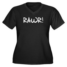 RAWR! Women's Plus Size V-Neck Dark T-Shirt