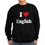 I Heart English: Sweatshirt (dark)