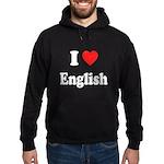 I Heart English: Hoodie (dark)