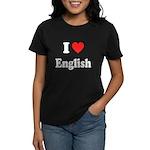 I Heart English: Women's Dark T-Shirt