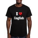 I Heart English: Men's Fitted T-Shirt (dark)