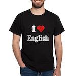 I Heart English: Dark T-Shirt