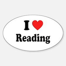 I Heart Reading: Sticker (Oval)