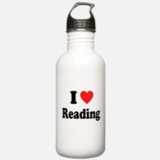 I Heart Reading: Water Bottle