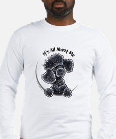 Black Poodle Lover Long Sleeve T-Shirt