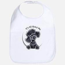 Black Poodle Lover Bib