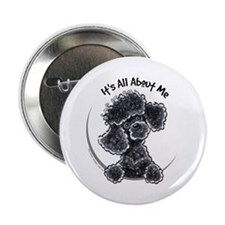 "Black Poodle Lover 2.25"" Button"
