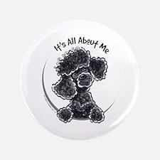 """Black Poodle Lover 3.5"""" Button"""