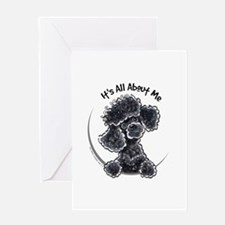 Black Poodle Lover Greeting Card