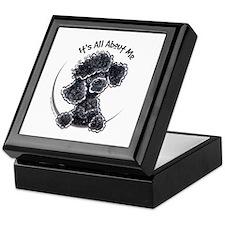 Black Poodle Lover Keepsake Box