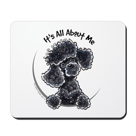 Black Poodle Lover Mousepad