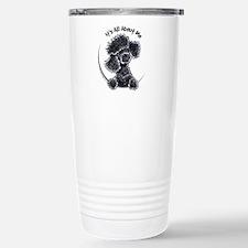 Black Poodle Lover Stainless Steel Travel Mug