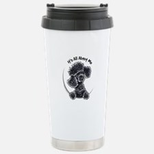 Black Poodle Lover Travel Mug