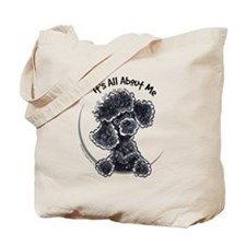Black Poodle Lover Tote Bag