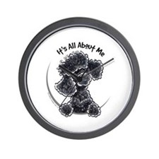 Black Poodle Lover Wall Clock