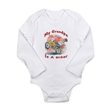 Grandpa Biker Long Sleeve Infant Bodysuit