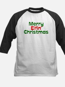 Merry Elfin' Christmas Kids Baseball Jersey