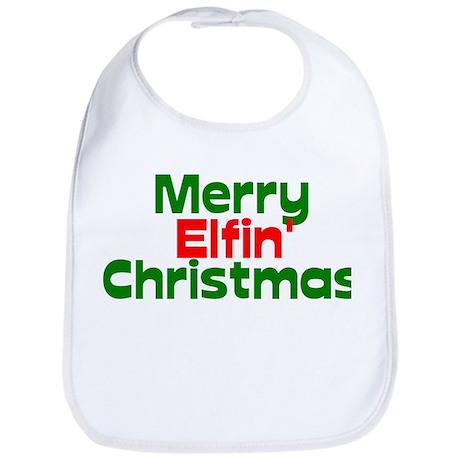 Merry Elfin' Christmas Bib