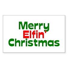 Merry Elfin' Christmas Decal