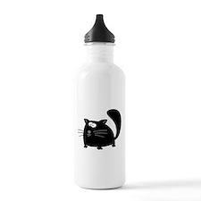 Cute Black Cat Water Bottle