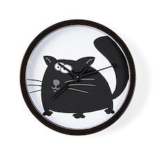 Cute Black Cat Wall Clock
