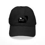 Cute Black Cat Black Cap