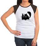 Cute Black Cat Women's Cap Sleeve T-Shirt
