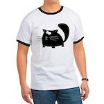 Cute Black Cat Ringer T