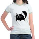 Cute Black Cat Jr. Ringer T-Shirt