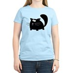 Cute Black Cat Women's Light T-Shirt