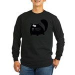 Cute Black Cat Long Sleeve Dark T-Shirt