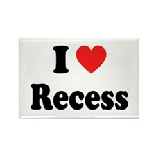 I Heart Recess: Rectangle Magnet