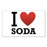 I Love Soda Sticker (Rectangle 50 pk)