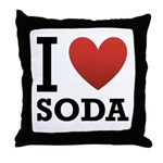 I Love Soda Throw Pillow