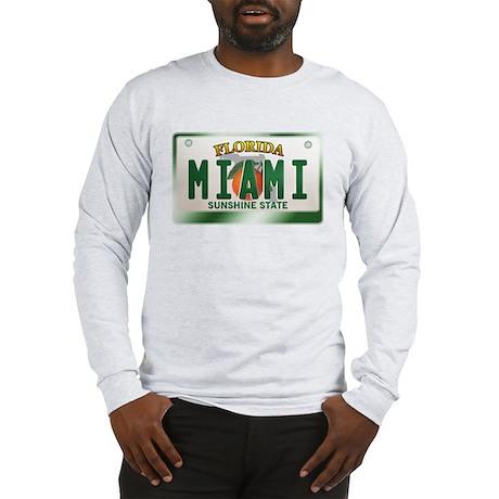 """MIAMI"" Florida License Plate Long Sleeve T-Shirt"