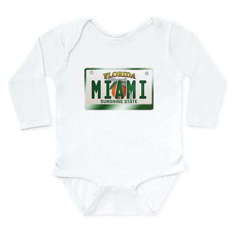 """MIAMI"" Florida License Plate Long Sleeve Infant B"