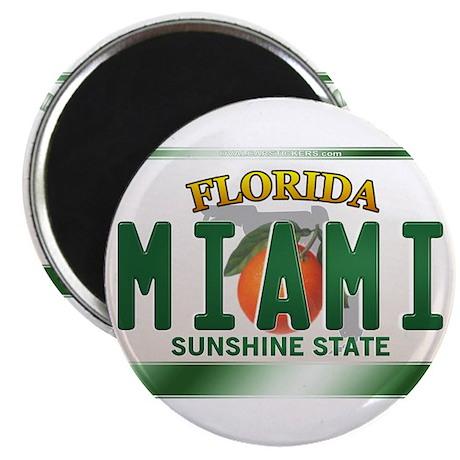 """MIAMI"" Florida License Plate 2.25"" Magnet (10 pac"