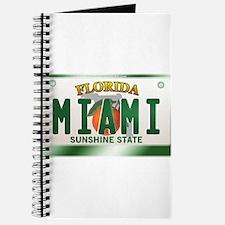 """MIAMI"" Florida License Plate Journal"