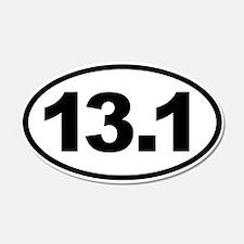 13.1 Half Marathon Oval Euro Sticker