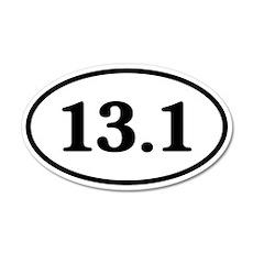 13.1 Half Marathon Runner 20x12 Oval Wall Peel
