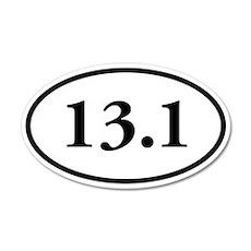 13.1 Half-Marathon 20x12 Oval Wall Peel